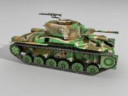 Type 97 Chi-Ha Japan tank 3d model
