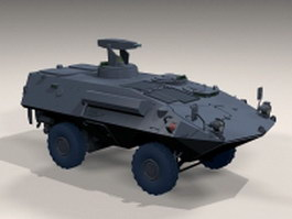 Mowag armoured wheeled vehicle 3d model
