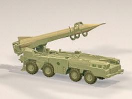 Scud missile weapon 3d model