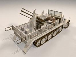 Sd.Kfz. 7 Half-track artillery 3d model