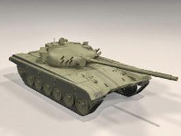 Soviet T-72 tank 3d model