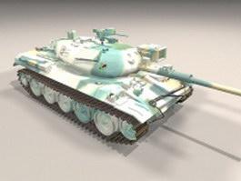 Japan Type 74 tank 3d model