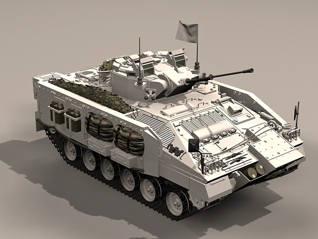 British Warrior Apc 3d Model 3ds Max Files Free Download