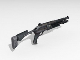 Military combat shotgun 3d model