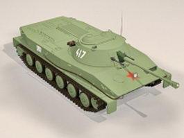 Soviet PT-76 light tank 3d model