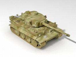 German Tiger heavy tank 3d model