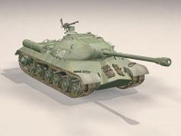 Iosif Stalin tank 3d model