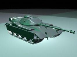 American battle tank 3d model