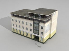 Old Moscow hotel 3d model