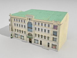 Typical Russian apartment building 3d model