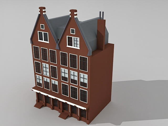 Gothic Victorian style houses 3d model 3ds Max files free download ...