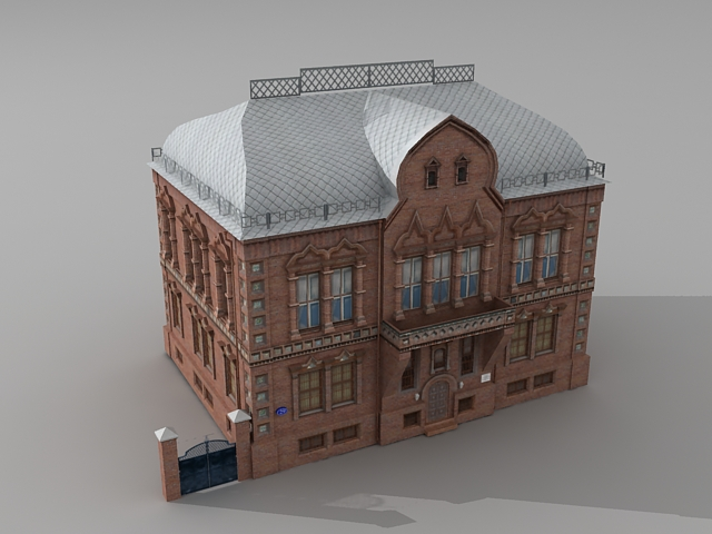 Traditional Russian Mansion 3d Model 3ds Max Files Free