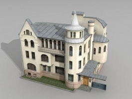 Soviet Russian Mansion 3d model