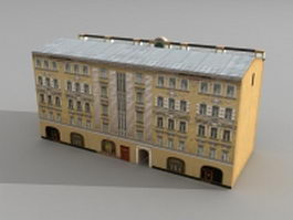Old Russian street apartment 3d model