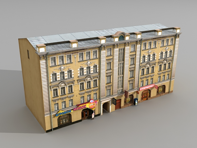 Old Russian Street Apartment 3d Model 3ds Max Files Free