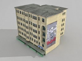 Old apartment complex 3d model