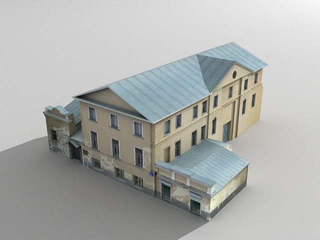 Old abandoned house 3d model 3ds max files free download for Build house online 3d free