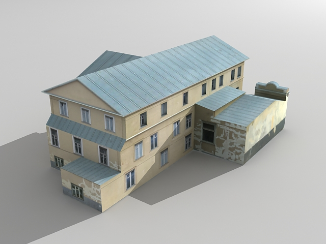 3ds max house project modeling