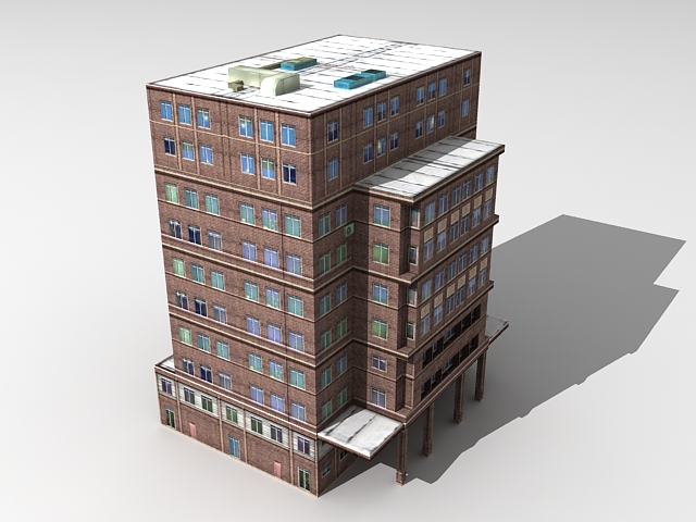 Old apartment block 3d model 3ds max files free download for Apartment 3d model