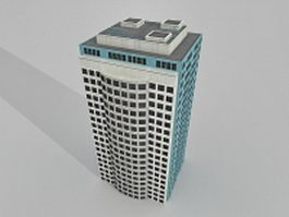 Office building block 3d model