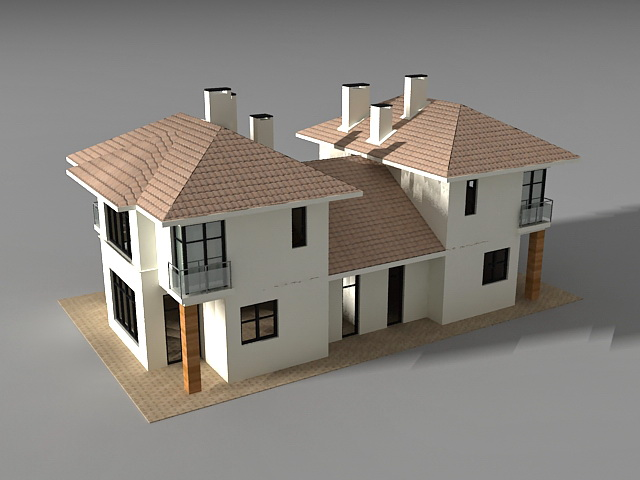 Detached link house 3d model 3ds max files free download - 3ds max models free download exterior ...