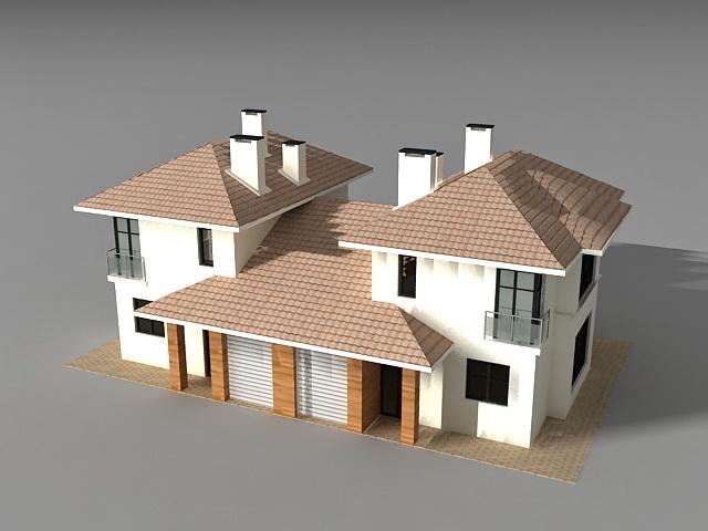Detached Link House 3d Model