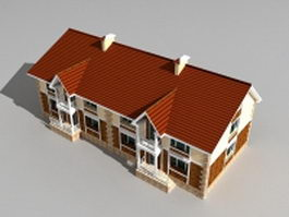 Victorian terraced house 3d model