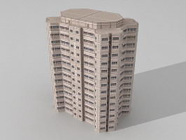 Block modern office 3d model