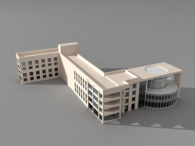 University college education building 3d model 3ds max for Architecture et construction 3d