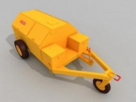 Portable fuel cart 3d model
