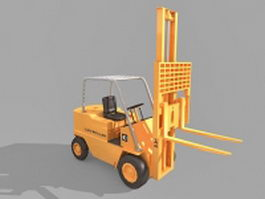 Industrial forklift truck 3d model