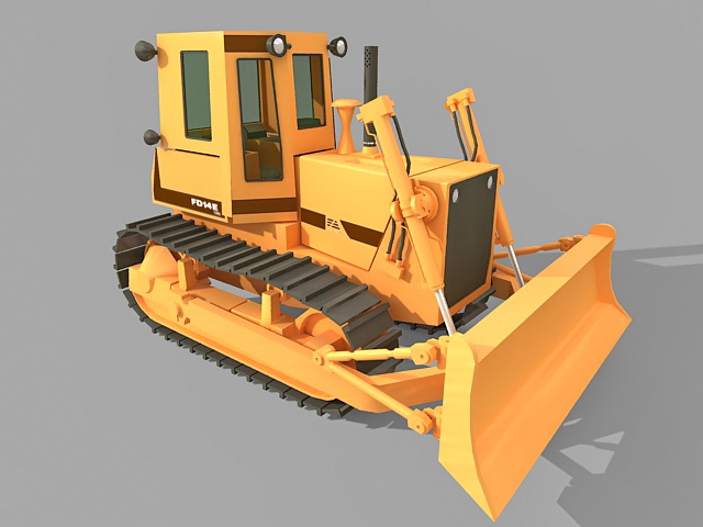 Tracked Bulldozer 3d Model 3ds Max Files Free Download