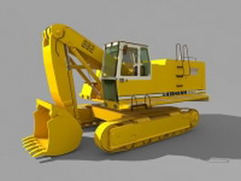 Tracked backhoe loader 3d model
