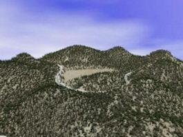 Hills & river 3d model