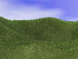 Hill and valley landforms 3d model