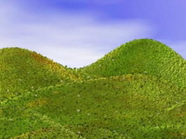 Landforms hills mountains 3d model
