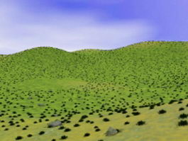Grass hills 3d model