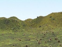 Highland hills 3d model
