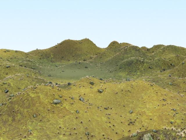 Highland Hills 3d Model 3ds Max Files Free Download