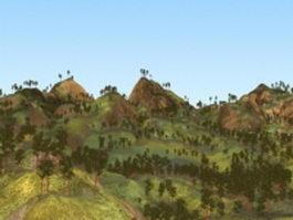 Pine tree hill 3d model