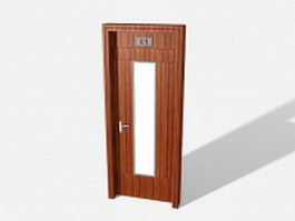 Office interior door 3d model