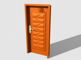 Carved wood door 3d model