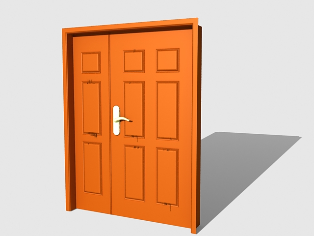 Home exterior front door 3d model 3ds max files free for Exterior 3d model