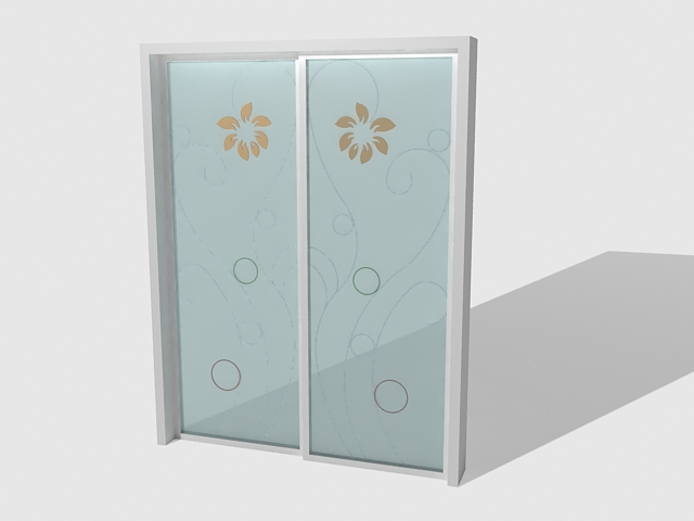 exterior sliding glass door 3d model 3ds max files free