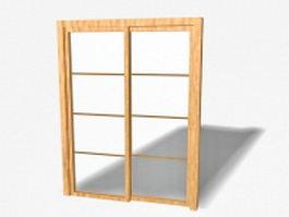 Interior sliding doors 3d model