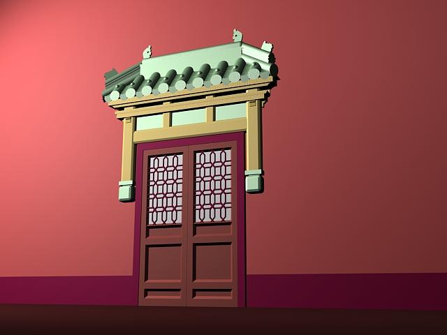 Ancient Chinese Door 3D Model