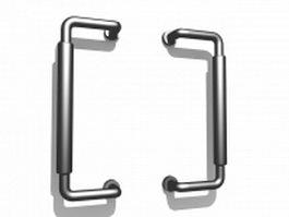 Commercial door handles 3d model