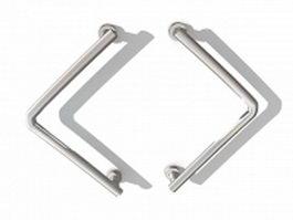 Commercial door pull handles 3d model