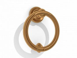 Brass ring door knocker 3d model