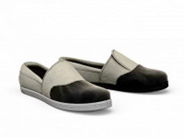 Casual slip on shoes 3d model